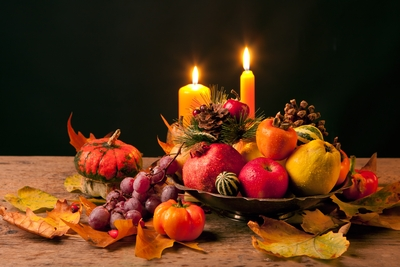 fall fruits arrangement