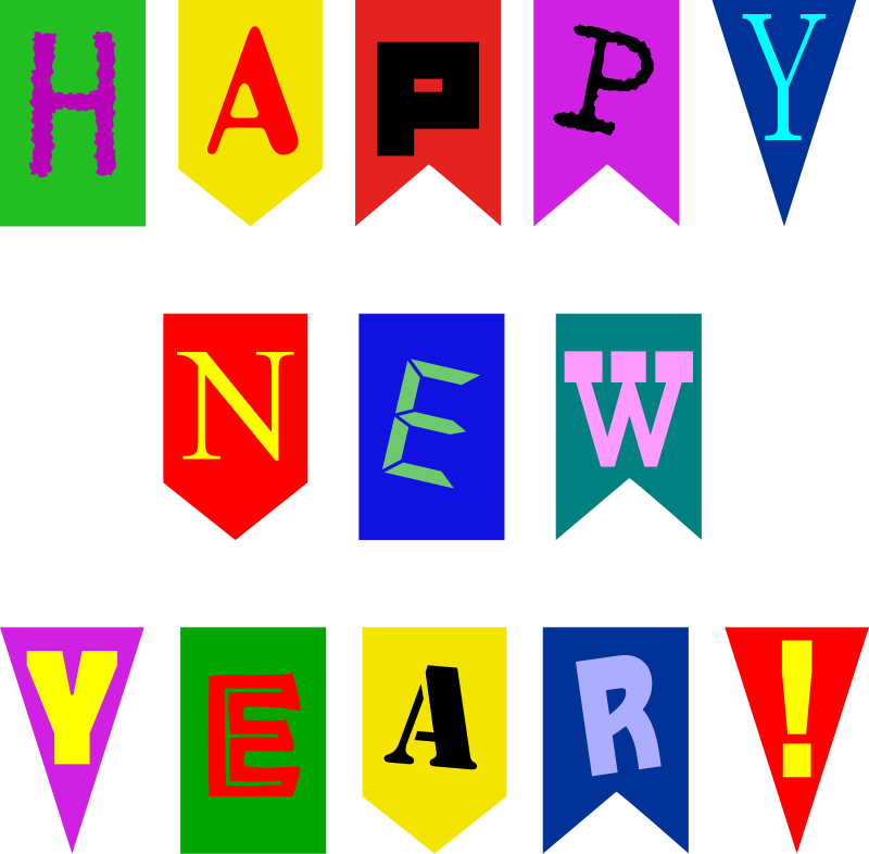 happy new year pennants
