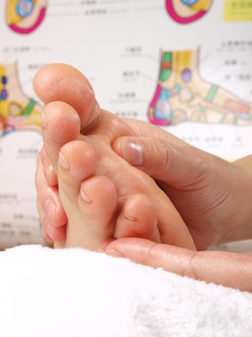 reflexology massage session