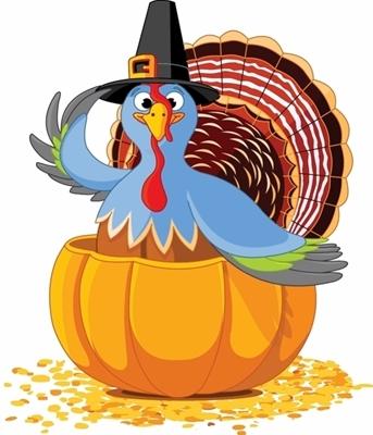 turkey in pumpkin